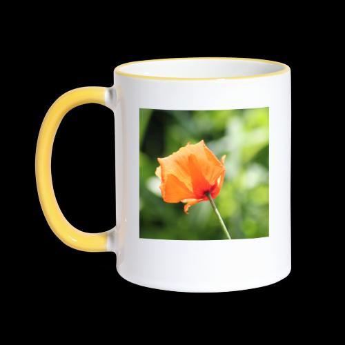 Poppy Flower - Contrasting Mug
