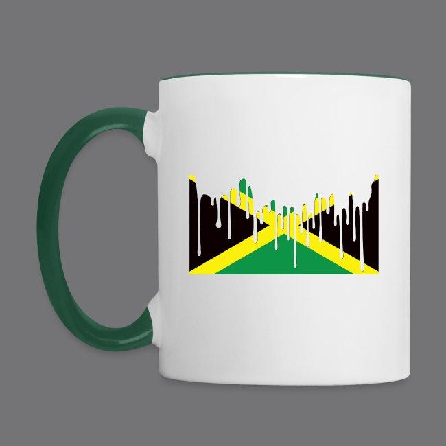 JAMAICAN FLAG Tee Shirts | Contrasting Mug
