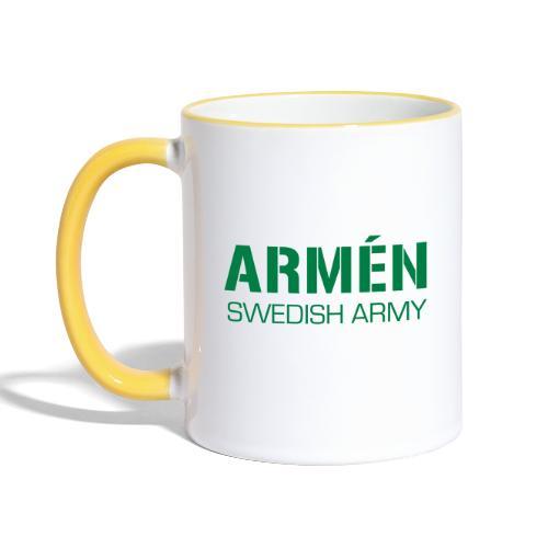 ARMÉN -Swedish Army - Tvåfärgad mugg