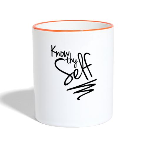 Know Thy Self - Contrasting Mug