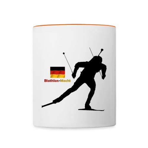 Biathlon Macht Deutschland - Tasse zweifarbig