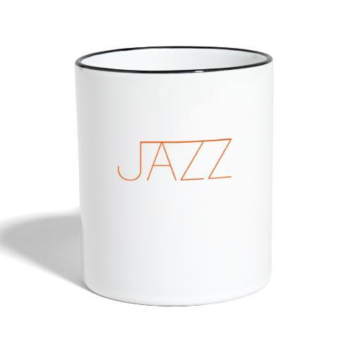 Jazz en La Montaña Rusa Radio Jazz - Taza en dos colores