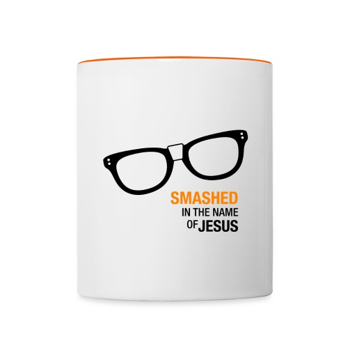 Smashed in the name of Jesus - Contrasting Mug