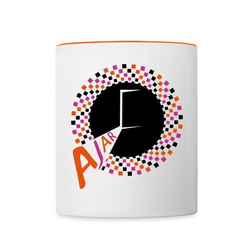 AJAR Logo Circle 3 Colour Spiral - Contrasting Mug