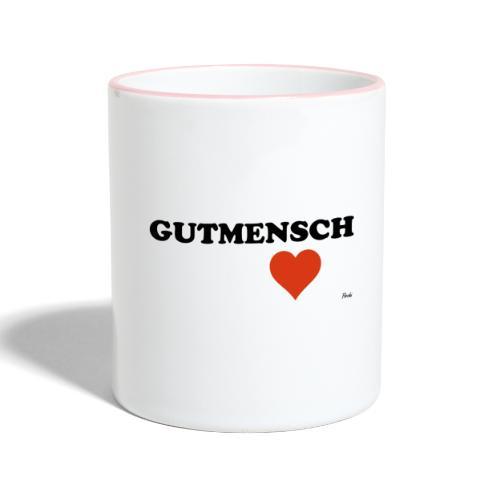 gutmensch - Tasse zweifarbig
