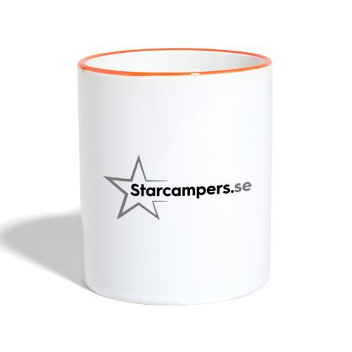 Starcampers logo liggande - Tvåfärgad mugg
