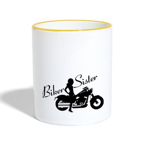 Biker Sister - Custom bike - Kaksivärinen muki