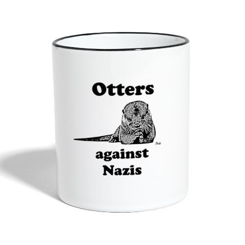 ottersagainstnazis - Tasse zweifarbig