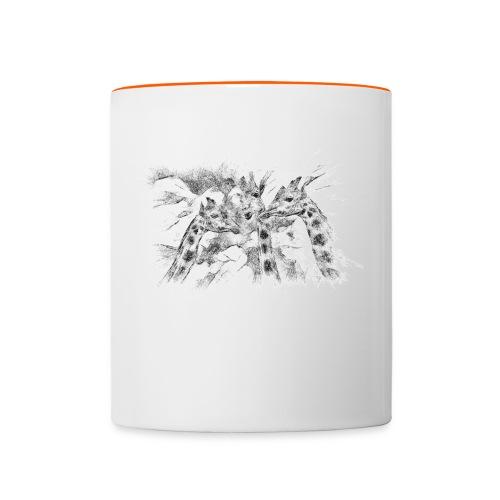 les girafes bavardes - Mug contrasté