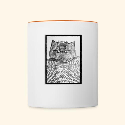 Chat Maille - Mug contrasté