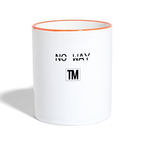 NO WAY - Contrasting Mug