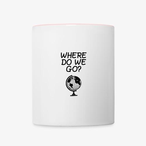 WorldMap   WhereDoWeGo? - Tazze bicolor