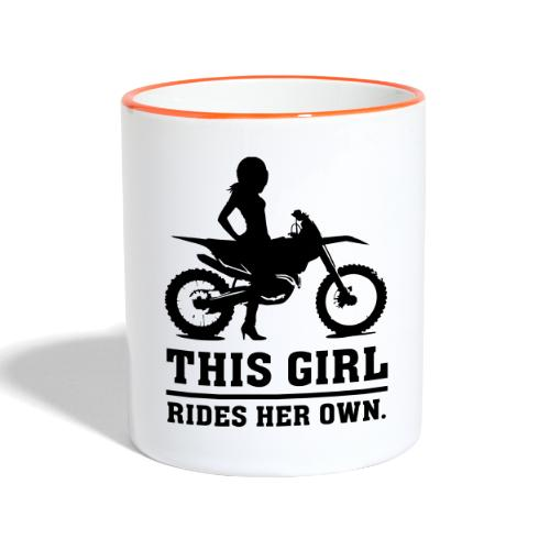 This Girl rides her own - Dirt bike - Kaksivärinen muki