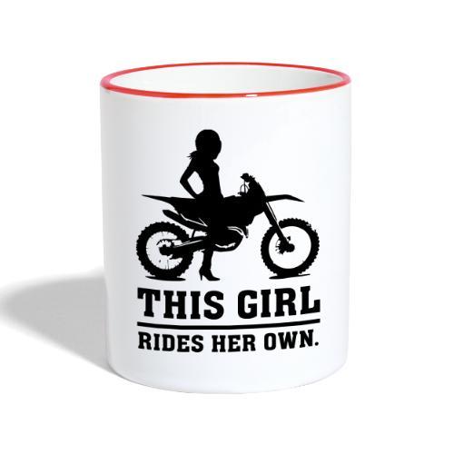 This Girl rides her own - Dirt bike - Kaksivärinen muki