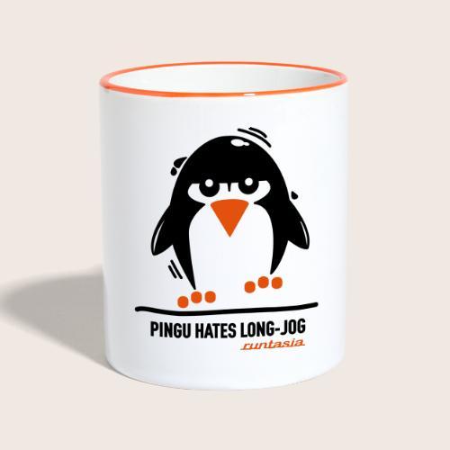 Pingu hates long jog 1 - Tasse zweifarbig
