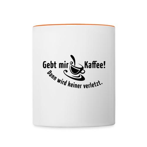 Kaffee Koffein Montag früher Vogel Morgen Latte - Contrasting Mug