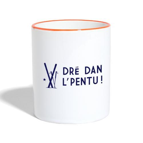 Dré dan l'pentu - Ski - Mug contrasté