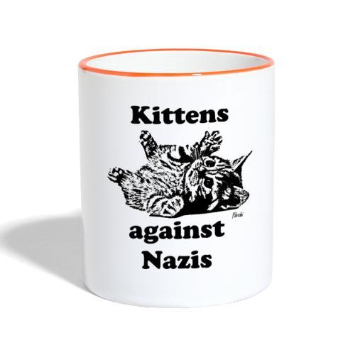 kittensagainstnazis - Tasse zweifarbig