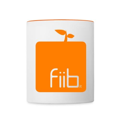 fiib it logo Sanduhr png - Tasse zweifarbig