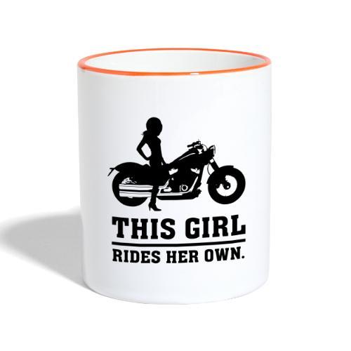 This Girl rides her own - Custom bike - Kaksivärinen muki