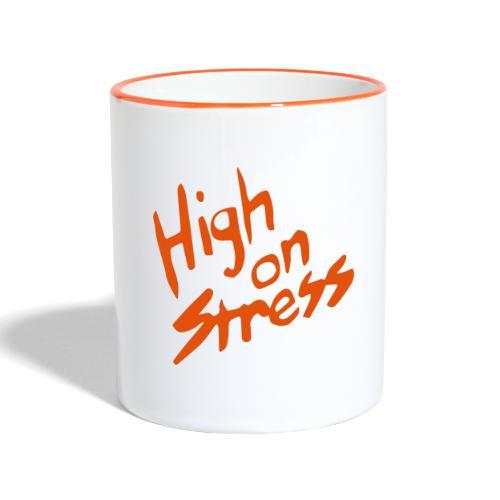 High on stress - Contrasting Mug