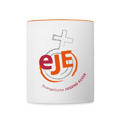 EJE Logo rund farbig eps 21 3 x 28 0 - Tasse zweifarbig