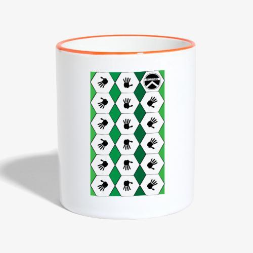  K·CLOTHES  HEXAGON ESSENCE GREENS & WHITE - Taza en dos colores