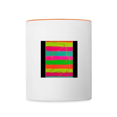 LINEAS FLUORESCENTES - Taza en dos colores