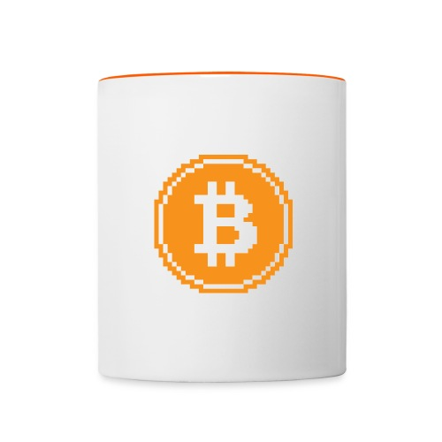 CryptoFR Bitcoin pixel art - Mug contrasté