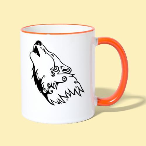 Le Loup de Neved (version traits) - Mug contrasté