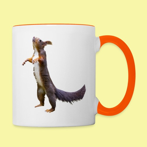 Eichhörnchen Schoko - Tasse zweifarbig
