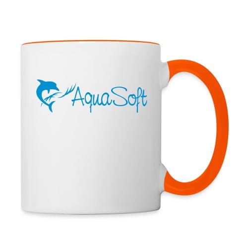 AquaSoftLogo-Blue-CMYK-ne - Tasse zweifarbig