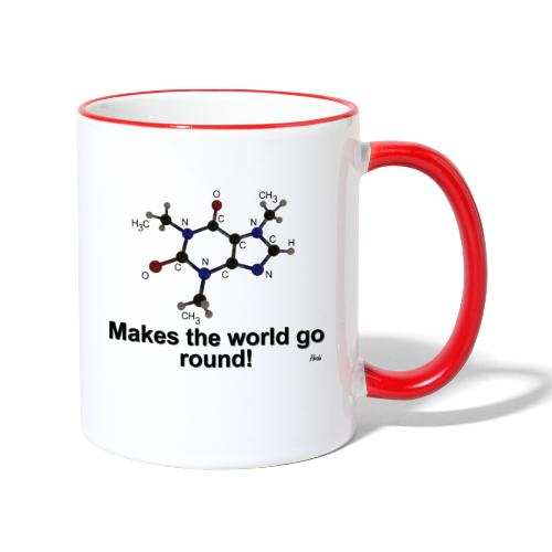 Coffein - Tasse zweifarbig