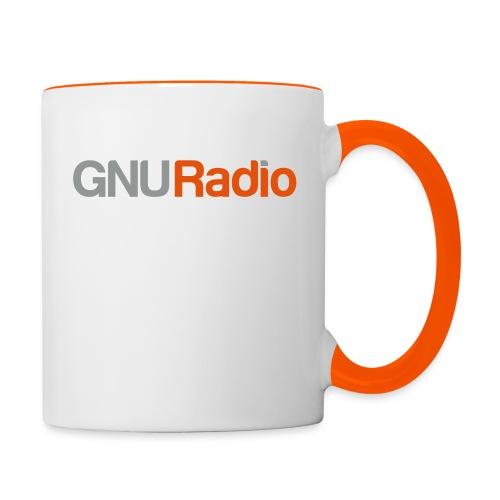 GNU Radio Logo No Icon - Tasse zweifarbig