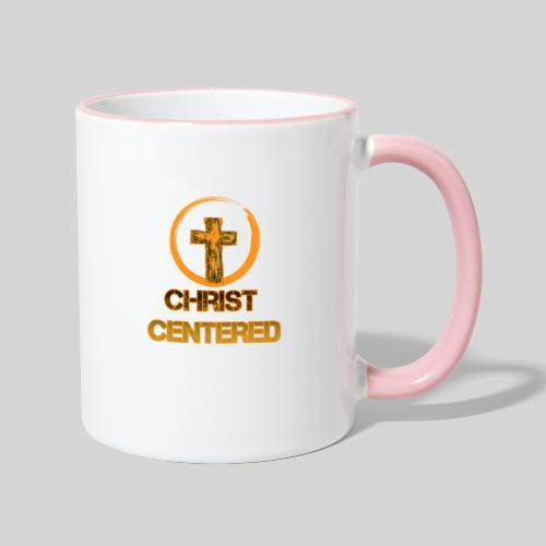 Christ Centered Focus on Jesus - Tasse zweifarbig