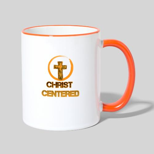 Christ Centered Focus on Jesus - Tasse zweifarbig