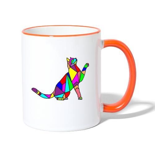 composizione di arte animale animale domestico colori gatto - Tazze bicolor