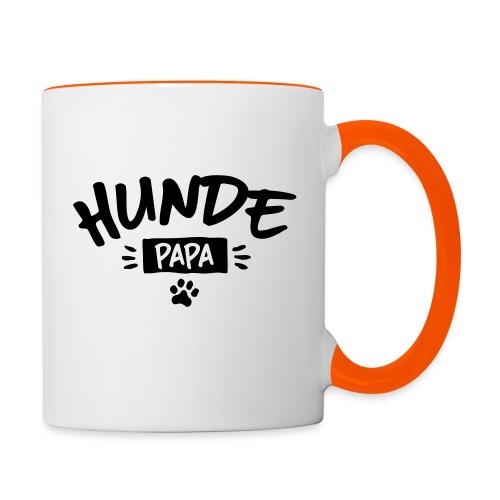 Vorschau: Hunde Papa - Tasse zweifarbig