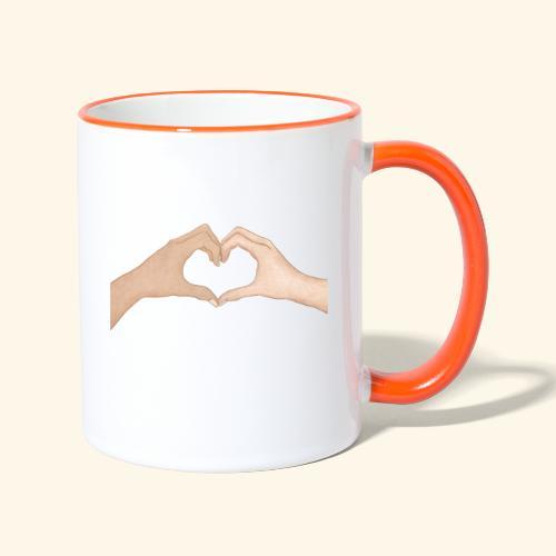 Mains Coeur Amour - Love hands - Mug contrasté