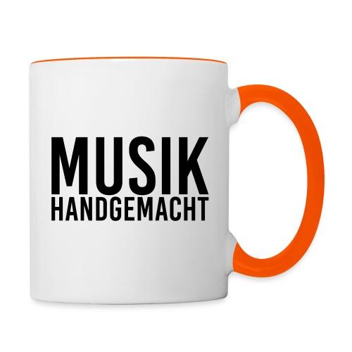 Musik handgemacht - Tasse zweifarbig