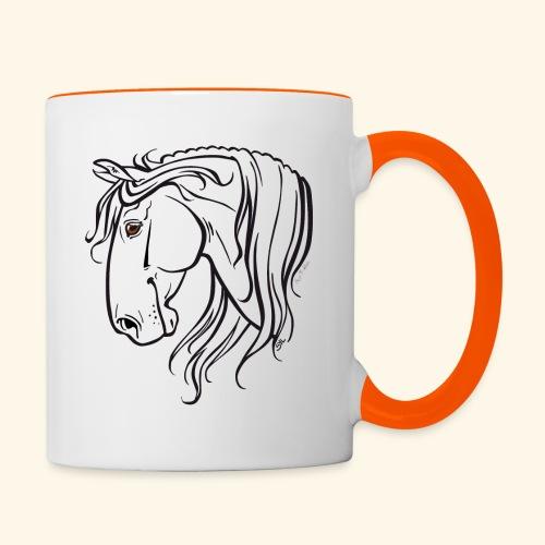 Cheval espagnol (noir) - Mug contrasté