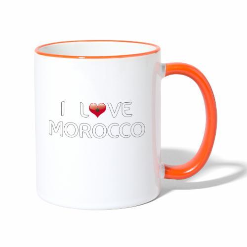 i_love_morocco - Contrasting Mug