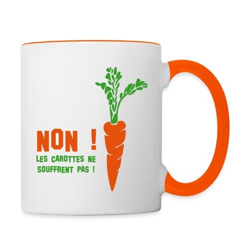 carottes ai - Mug contrasté