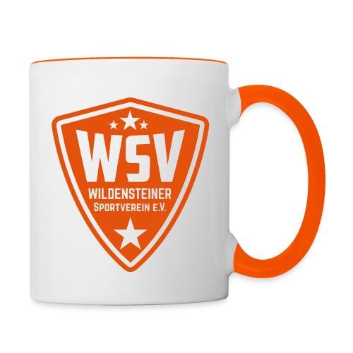 WSV_Logo_mono_10cm_hoch - Tasse zweifarbig
