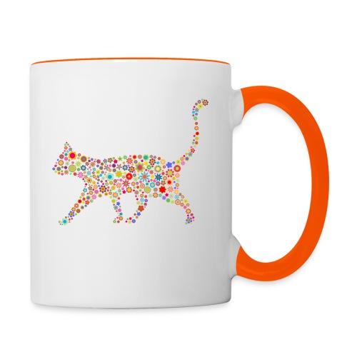 Vorschau: flower cat - Tasse zweifarbig