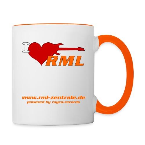 I love RML cup png - Tasse zweifarbig