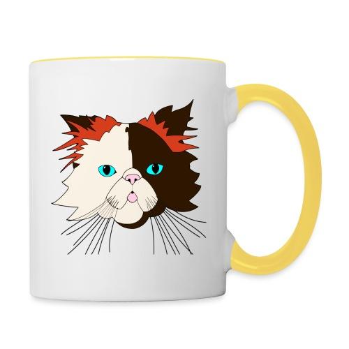 Katze - Brownie - Theophil-Nerd - Tasse zweifarbig