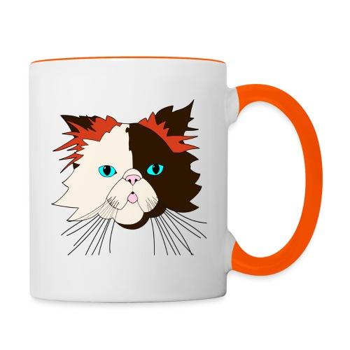 Katze - Brownie - Theophil-Nerds - Tasse zweifarbig