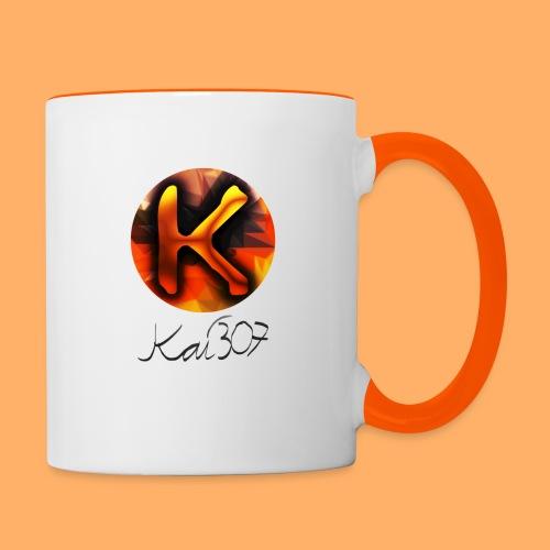 Kai_307 - Profilbild + Unterschrift Schwarz - Tasse zweifarbig