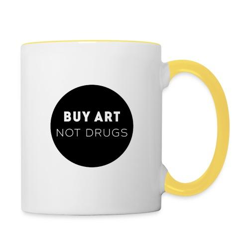 Buy Art Not Drugs - Kaksivärinen muki